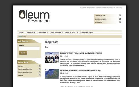 Screenshot of Blog oleum-resourcing.com - Blog | Oil And Gas Engineering | Oleum Resourcing - captured Dec. 6, 2016