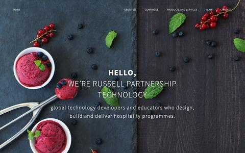 Screenshot of Products Page russellpartnership.com - Hospitality Consultants UK - Russell Partnership Technology - captured Nov. 19, 2018