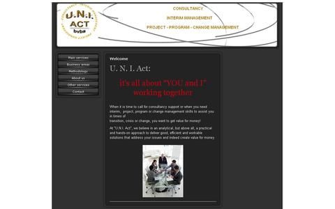 Screenshot of Home Page uni-act.com - Interim Management Consultancy from UNI-ACT Retail Consultants - captured Sept. 30, 2014