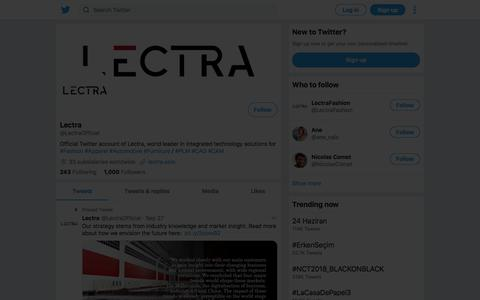Tweets by Lectra (@LectraOfficial) – Twitter