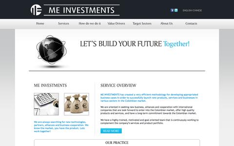 Screenshot of Services Page meinvestments.co captured Sept. 30, 2014