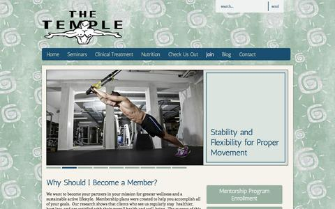 Screenshot of Signup Page templehp.com - Join | The Temple Human Performance Services - captured Oct. 6, 2014