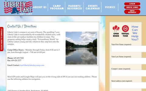 Screenshot of Contact Page Maps & Directions Page libertylakedaycamp.com - Contact Us / Directions   Liberty Lake Day Camp - captured March 3, 2018