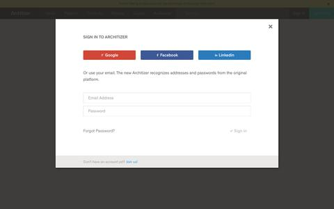 Architizer - Login