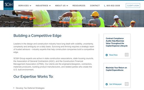 Construction Industry: Tax, Compliance & Cost Segregation Services | SC&H Group