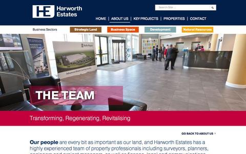 Screenshot of Team Page harworthestates.co.uk - Harworth Estates | Transforming, Regenerating, Revitalising - captured Sept. 29, 2014