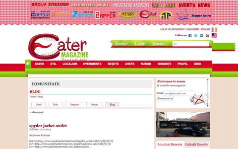 Screenshot of Blog eatermagazine.ro - Blog - captured Oct. 22, 2014