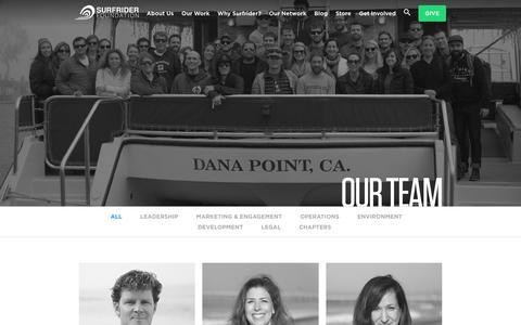 Screenshot of Team Page surfrider.org - Our Team - Surfrider Foundation - captured Oct. 28, 2016