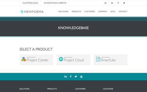 Screenshot of Trial Page newforma.com - Knowledgebase | Newforma - captured Nov. 9, 2016