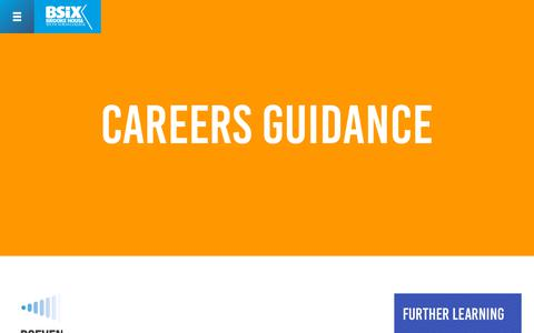 Screenshot of Jobs Page bsix.ac.uk - Careers Guidance | BSix Sixth Form College - captured Oct. 5, 2018