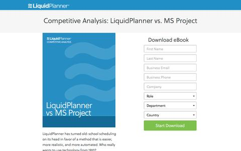 Screenshot of Landing Page liquidplanner.com captured Oct. 13, 2016