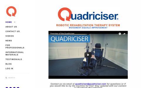 Screenshot of Home Page quadriciser.com - QUADRICISER - Quadriciser Therapy System - captured Sept. 28, 2018