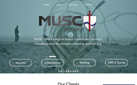 Screenshot of Home Page mandusc.com - Home » MUSC - captured Oct. 17, 2018