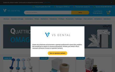 Screenshot of Home Page vsdental.it - VS Dental | l'e-commerce delle promozioni dentali - captured Dec. 20, 2018