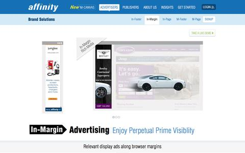 Screenshot of Team Page affinity.com - In-Margin Display Advertising - Enjoy Perpetual Prime Visibility   Affinity - captured Nov. 12, 2019