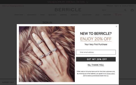 Screenshot of Login Page berricle.com - Customer Login | BERRICLE - captured May 19, 2018