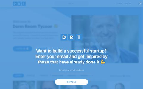 Screenshot of Home Page drt.fm - Dorm Room Tycoon   Build a Successful Startup - captured Oct. 11, 2017
