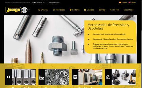 Screenshot of Home Page joarjo.com - Inicio ~ Joarjo - captured Oct. 2, 2018