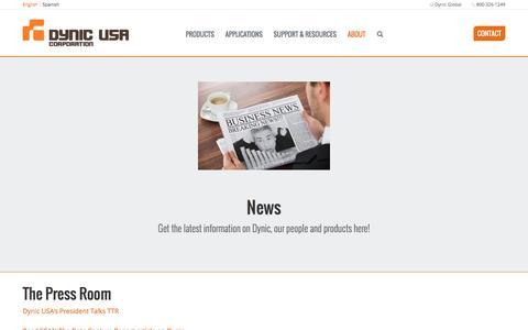 Screenshot of Press Page dynic.com - Dynic USA - Latest News - captured Oct. 6, 2016