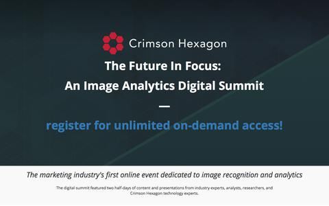 Screenshot of Landing Page crimsonhexagon.com - Image Analytics Digital Summit | December 2017 - captured March 3, 2018