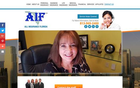 Screenshot of Contact Page allinsuranceflorida.com - Contact Us | Insurance Agency in Tampa FL | All Insurance Florida - captured July 28, 2018