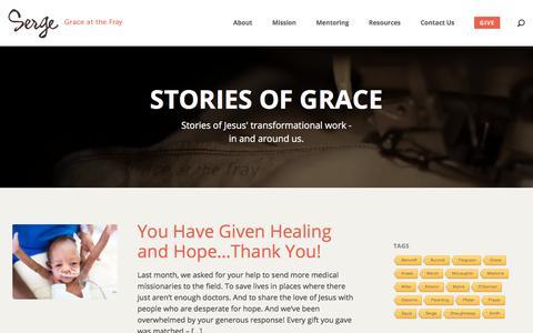 Screenshot of Blog serge.org - Blog - Serge :: Grace at the Fray - captured Sept. 20, 2018