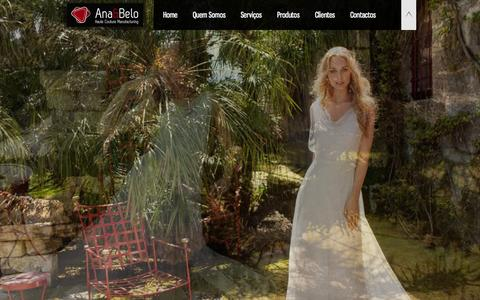 Screenshot of Home Page anaebelo.com - Ana&Belo - Haute Couture Manufacturing - captured Jan. 27, 2015