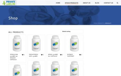 Specialty Archives - Private Label Supplements and Vitamins