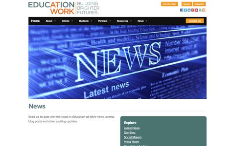 Screenshot of Press Page education-at-work.org - News | Education at Work - captured Sept. 29, 2014