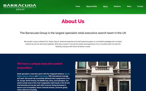 Screenshot of About Page barracudasearch.com - About - Barracuda Search - captured Oct. 1, 2014