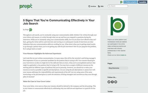 Screenshot of Blog prept.co - Prept - captured Oct. 3, 2014