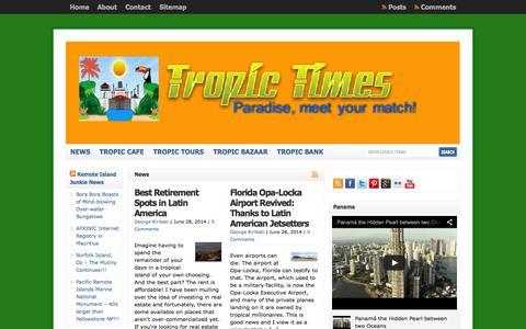 Screenshot of Press Page tropictimes.com - News  : Tropic Times - captured Oct. 1, 2014