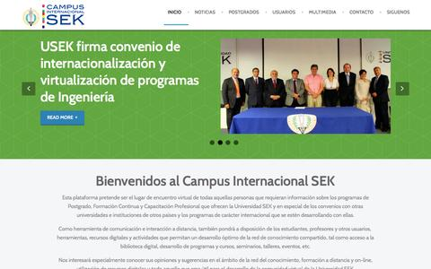 Screenshot of Home Page sek.edu - Campus Internacional Universidad SEK - Anacron - February 2014 Template Demo - captured March 18, 2016