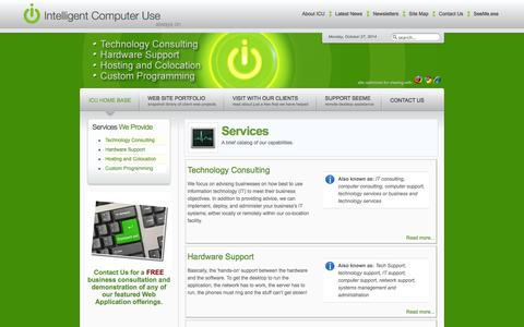 Screenshot of Services Page icuatlanta.com - ICU Atlanta - ICU Atlanta   Services - captured Oct. 27, 2014