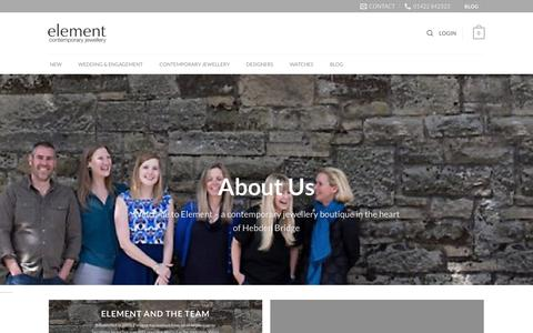 Screenshot of About Page elementjewellery.com - About - Element Jewellery - captured July 24, 2017