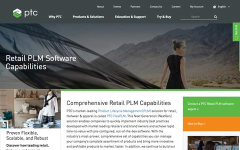 Capabilities | PTC Retail PLM | PTC