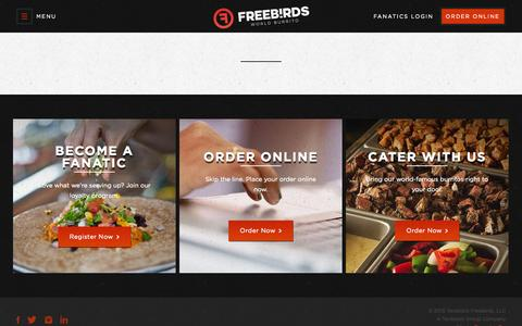 Screenshot of Contact Page freebirds.com - Contact Us - Freebirds World Burrito - captured Oct. 20, 2015