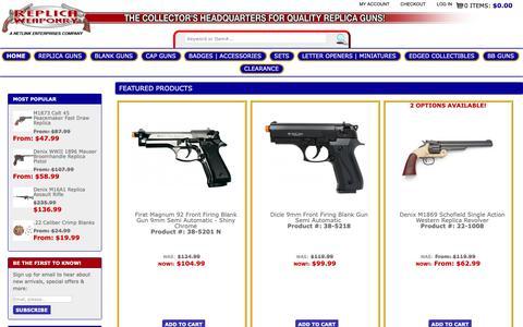 Screenshot of Home Page replicaweaponry.com - Replica Weaponry - captured Oct. 19, 2018