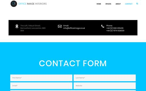 Screenshot of Contact Page officeimage.co.uk - Contact - Office Image - captured Dec. 20, 2018