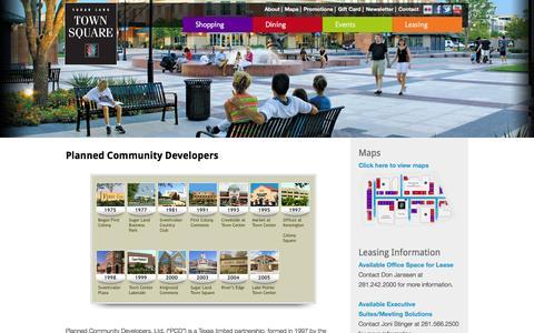 Screenshot of Developers Page sugarlandtownsquare.com - Developer | Sugar Land Town Square - captured Oct. 8, 2014