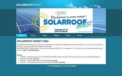 Screenshot of Home Page solarroofinvest.be - Solarroofinvest.be - captured Oct. 1, 2014