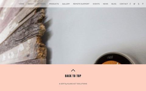 Screenshot of Blog klassactsolutions.com - Smart Home | Melbourne | Klass Act Solutions | BLOG - captured Sept. 20, 2018
