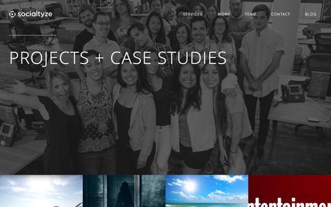 Screenshot of Case Studies Page socialtyze.com - Socialtyze - Case Studies - captured Nov. 23, 2015