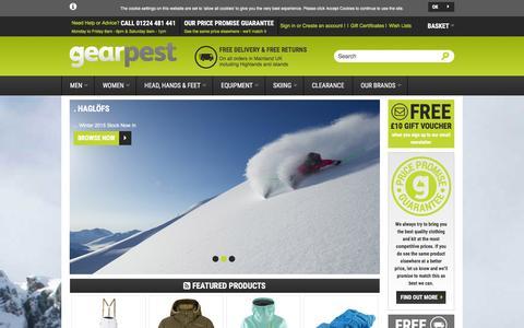 Screenshot of Home Page gearpest.com - Gear Pest - captured Jan. 26, 2016