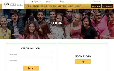 Screenshot of Login Page ces-schools.com - Student Login - captured Sept. 27, 2018