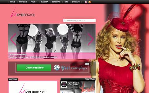 Screenshot of Home Page kyliebrasil.com - Kylie Brasil   Portal Kylie Minogue Brasil - captured Sept. 22, 2015