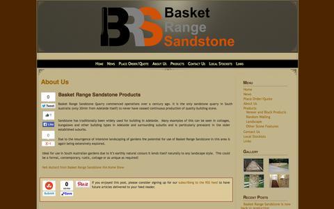 Screenshot of About Page basketrangesandstone.com.au - Basket Range Sandstone>About Us » Basket Range Sandstone> - captured Sept. 30, 2014