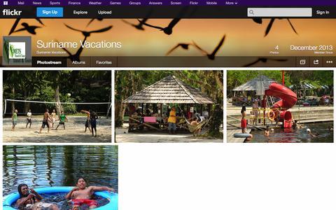 Screenshot of Flickr Page flickr.com - Flickr: Suriname Vacations' Photostream - captured Nov. 2, 2014
