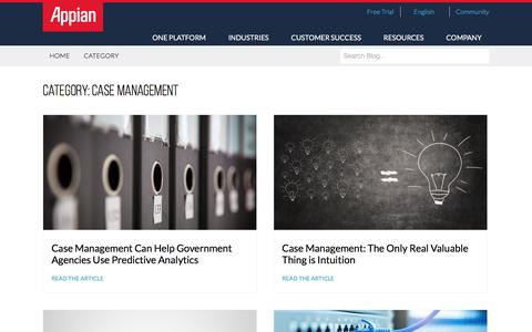 Screenshot of Case Studies Page appian.com - Case Management Archives - Page 2 of 9 - Appian Blog - captured June 25, 2018