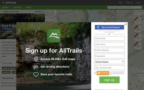 Screenshot of alltrails.com - Explore East Palisades Trail | AllTrails.com - captured March 19, 2016